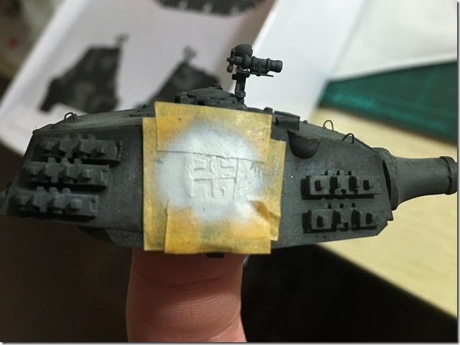 搜模E50 22对炮塔做漏喷